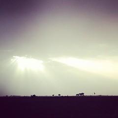 The sun thru the clouds