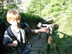 Climbing to schloss at Salzburg