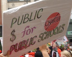 CTU Strike: 'Public $ for Public Schools' Sign