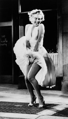 white dress Marilyn Monroe