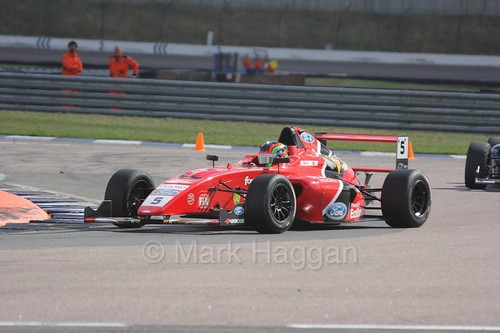 Frank Bird in the British F4 race at Rockingham, August 2016