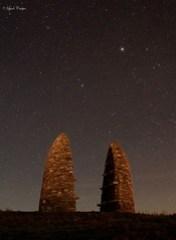 Starlit monument.