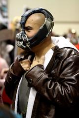 Bane cosplayer