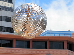 Fern sphere above civic area