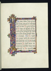 Illuminated Manuscript, Chapter 53 of the Book...