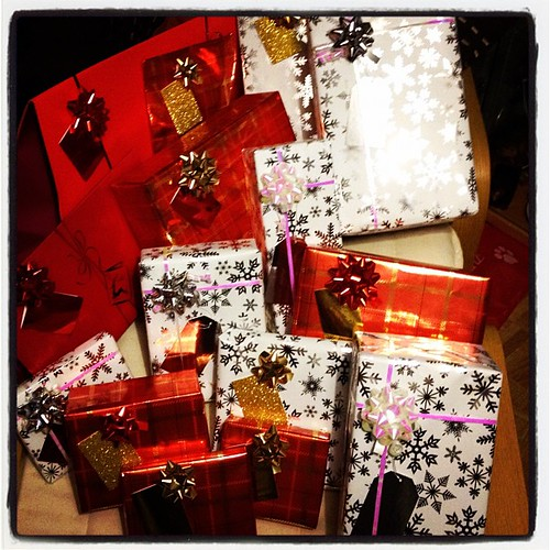 Today is all about...wrapping presents