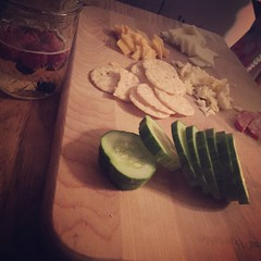 Cheese and sausage with cucumber and crackers #nutthins #naturallyglutenfree #gf #glutenfree