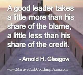 Inspirational Quotes Leadership Arnold H. Glasgow