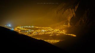 Bedmar a la falda de la Serrezuela vista desde el pico Miramundos