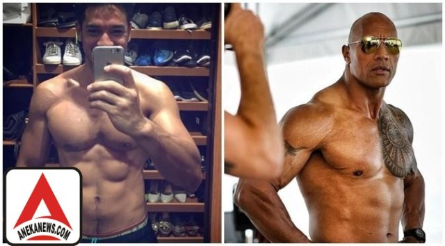#Gosip Top :Andrew White vs The Rock, Lebih Kekar Mana?