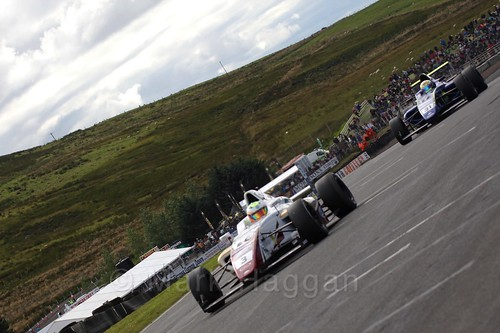 Sennan Fielding in the final British Formula Four race during the BTCC Knockhill Weekend 2016