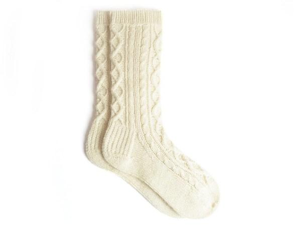 Argyle Cables socks by Mimi Hill for Eskimimi Makes