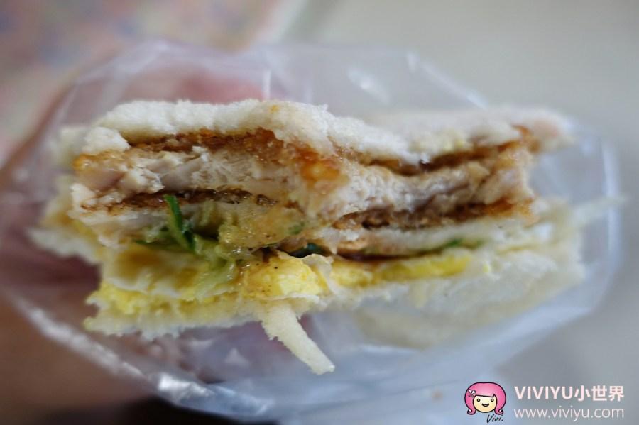 三明治,明峯早餐,桃園早餐,桃園美食,豬排,銅板美食 @VIVIYU小世界