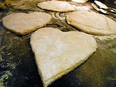 Homemade Love Heart Pizzas