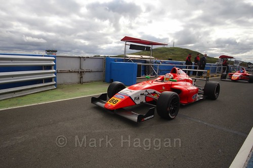 Jack Martin after the final British Formula Four race during the BTCC Knockhill Weekend 2016