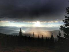 Sunrise at Halfmoon Pass.