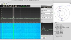 Gqrx receiving NOAA-15 weather satellite