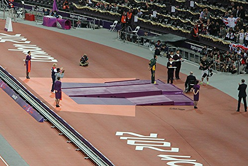 The medal ceremony for the men's T44 100m at the London 2012 Paralympic Games
