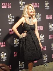 Rita Ora Poses For Cameras