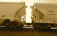 CMEX cement cars en route westbound through Ro...
