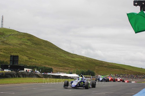 Max Fewtrell in British Formula Four race 2 during the BTCC Knockhill Weekend 2016