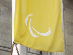 Paralympics banner - Victoria Square