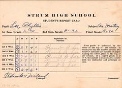 1933 - Grandma's 10th grade report card - hist...