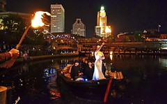 Ballerina carries the flame to lite the Ring of Fire