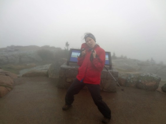 Rainy Cadillac Mountain Summit