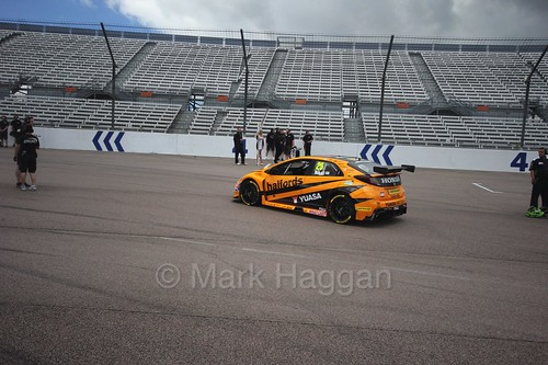 Matt Neal heads onto the grid at Rockingham, 2016