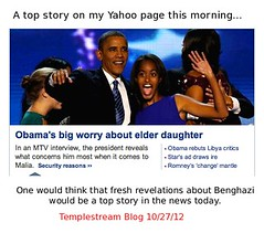 Obama dancing - a top MSM story as Obama's Ben...
