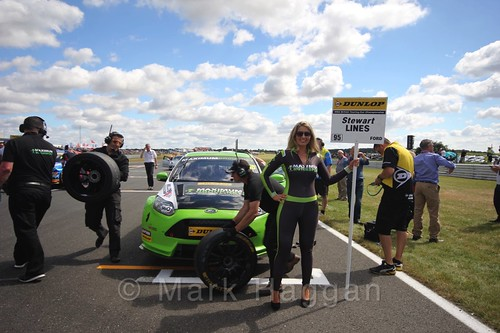 Stewart Lines' car during the Grid Walks at the BTCC 2016 Weekend at Snetterton