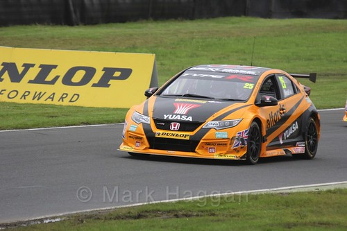 Matt Neal in BTCC race one at Knockhill Weekend 2016