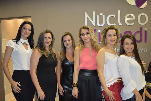 A equipe multifacetada do Núcleo Vivendi, que tem Jô Pessoa, Giselle Drumond, Dra. Juliana Vasconcelos, Cybelle, Edislaine Lima e Lorena Rodrigues