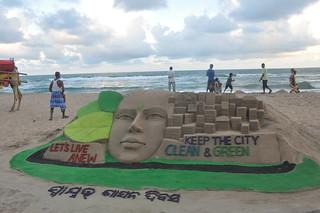 Swyat Sasan Diwas Sand Art at Puti Beach