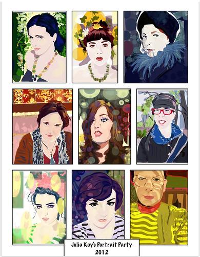 Portrait party-2012-iPad-Art