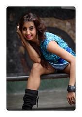 South Actress Sanjjanaa's Never give up tatoo (1)