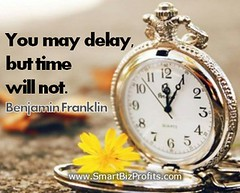 Inspirational Quotes about time Benjamin Franklin