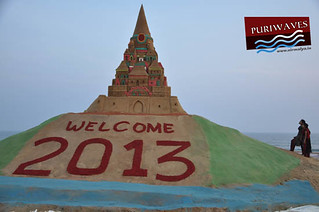 Sand Sculpture 2013 Happy New Year