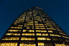 La Défense (Paris) - Night Shots - GDFSUEZ Tower T1