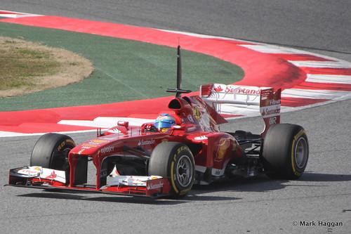 Fernando Alonso in his Ferrari in Formula One Winter Testing, March 2013