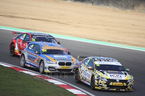 Aron Smith, Rob Collard and Ollie Jackson during the BTCC Brands Hatch Finale Weekend October 2016