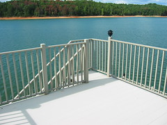 """1"""" Square Balusters are pre-assembled in-between the Handrail and Bottom Rail to provide infill for the deck's guardrails. 3 ½"""" spacing between pickets, 4 ½"""" on-center. Pre-assembled horizontal rail sections are available in 2' / 4' / 6' / or in custom le"""
