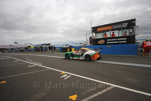Reece Sommerfield in the The Ginetta GT4 Supercup during the BTCC Knockhill Weekend 2016