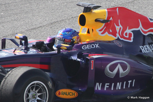 Sebastian Vettel in his Red Bull in Formula One Winter Testing, 3rd March 2013