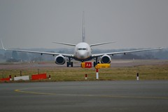 Ryanair EI-DPC taxies at Luton airport