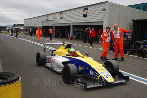 Alexandra Mohnhaupt in British Formula Four during the BTCC Knockhill Weekend 2016