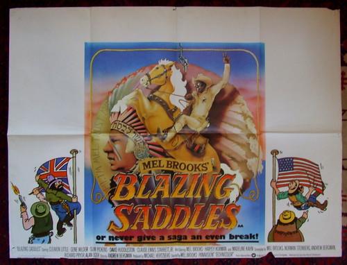 Image result for Blazing Saddles quad poster