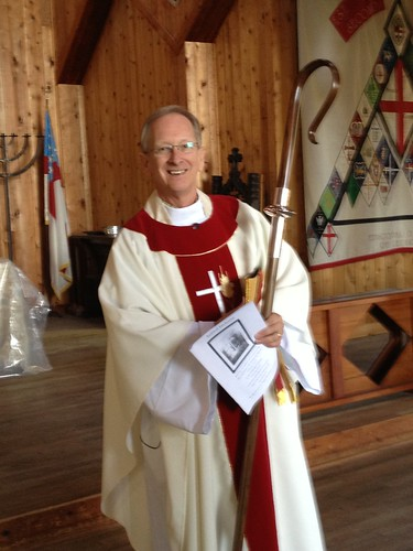 <p>Bishop Doug at his first St. George's Day</p>
