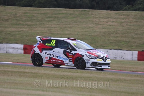 Paul Streather in the Clio Cup during the BTCC 2016 Weekend at Snetterton
